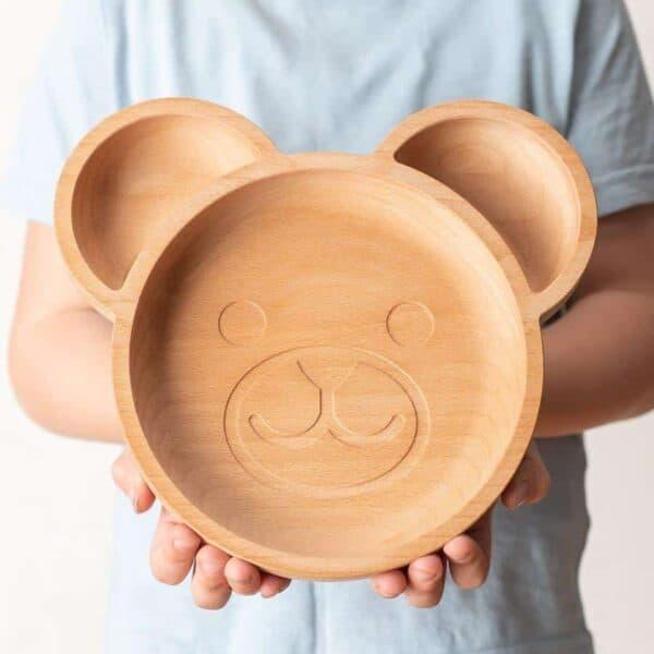 The Wooden Bear Plate For Children 3 900x