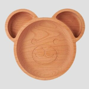 The Wooden Bear Plate For Childrengrey background