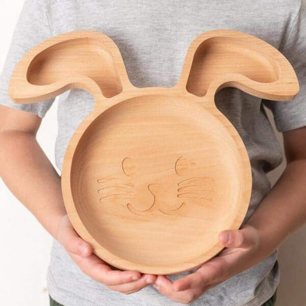 The Wooden Rabbit Plate For Children 2 900x