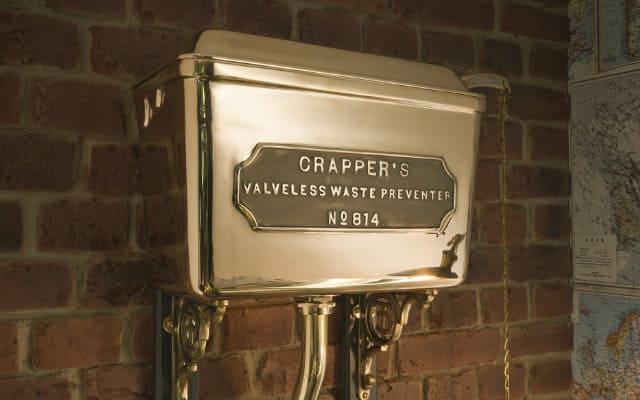 Thomas crapper copper cistern