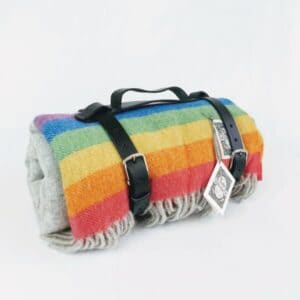 Tolly McRae British made rainbow picnic blanket