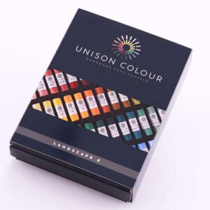 unison colour pastels 8 soft pastels for landscape, british made pastels set for beginers