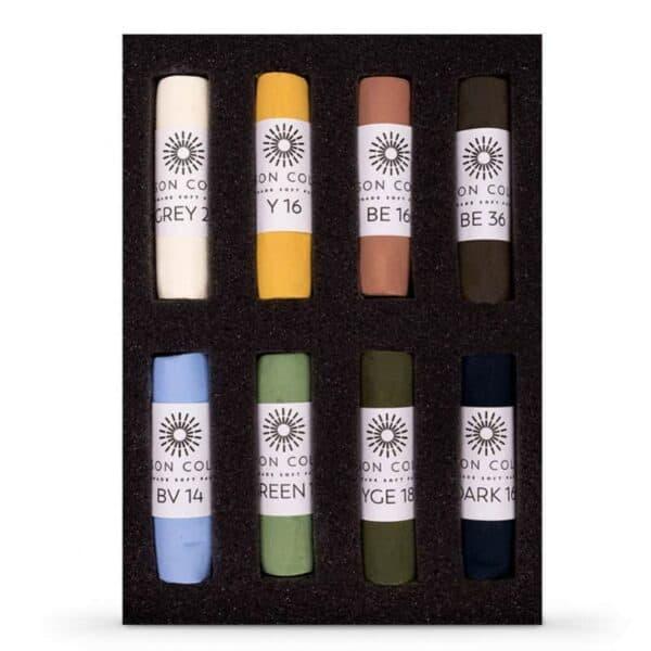 8 soft artist pastels, for landscape art, pastel handmade for artists