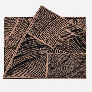 Hazelnut Wood Block Throw