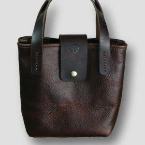 heather borg KODIAK LEATHER TOTE HANDBAG, british made leather tote bag hand bag