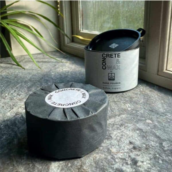 concrete and wax new packaging coasters
