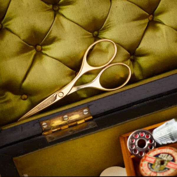 gold plated embroidery scissors lifestyle