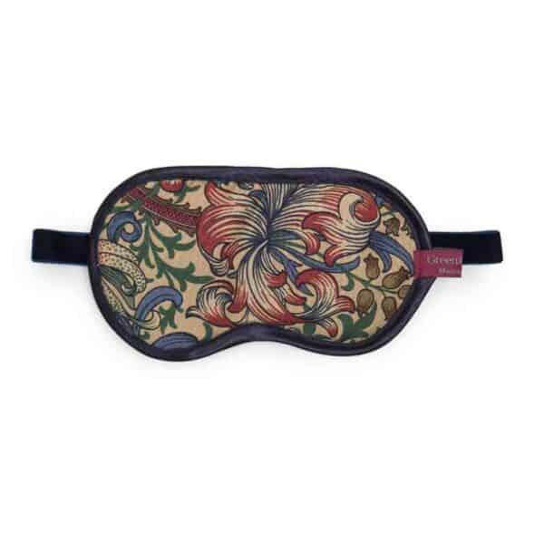 golden lily william morris fabric lavender eye mask