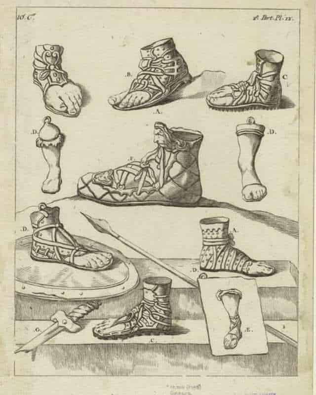 history of leather roman sandals