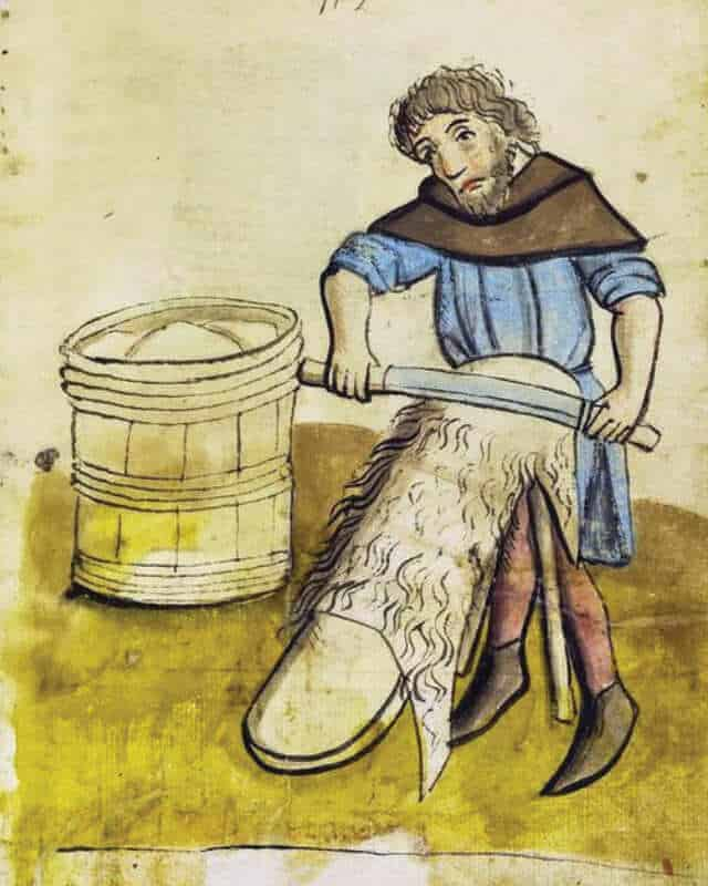history of leather tanning old drawing