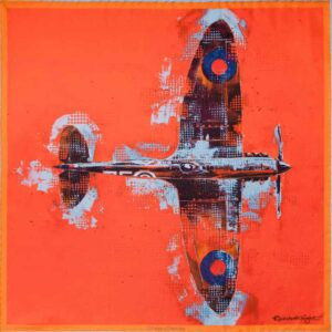 lone fighter Otway and Orford silk pocket square british made silk square