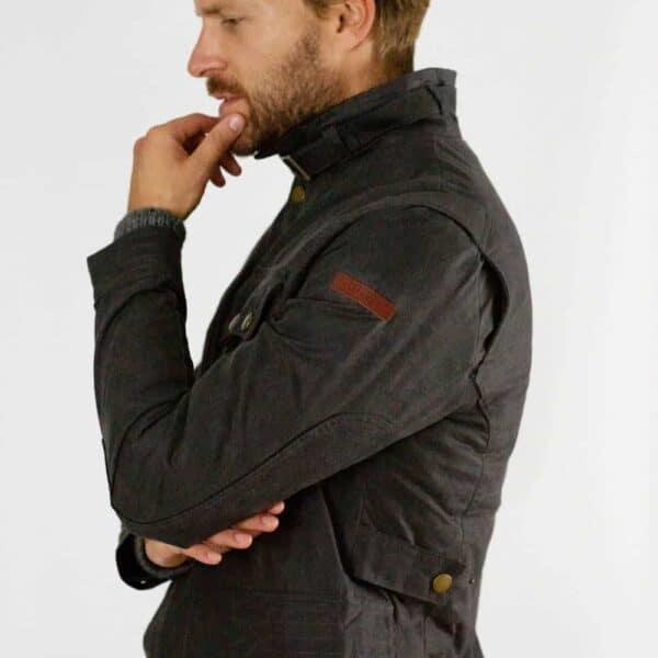 peregrine bexely gunmetal jacket 1000x1000 side image