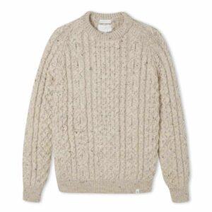 peregrine clothing skiddaw aran british wool jumper, ladies wool jumper