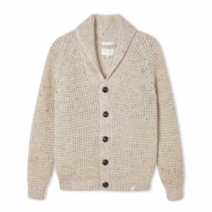 peregrine clothing skiddaw 100% british wool ladies cardigan shawl