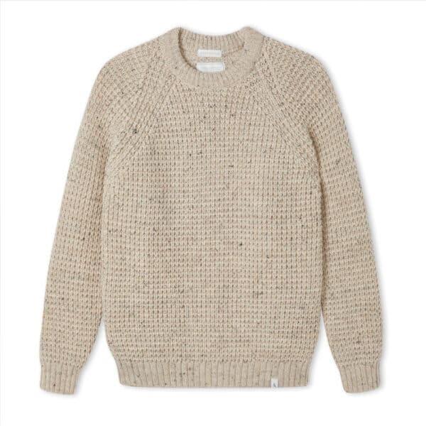 peregrine clothing waffle skiddaw women's winter jumper, british wool jumper