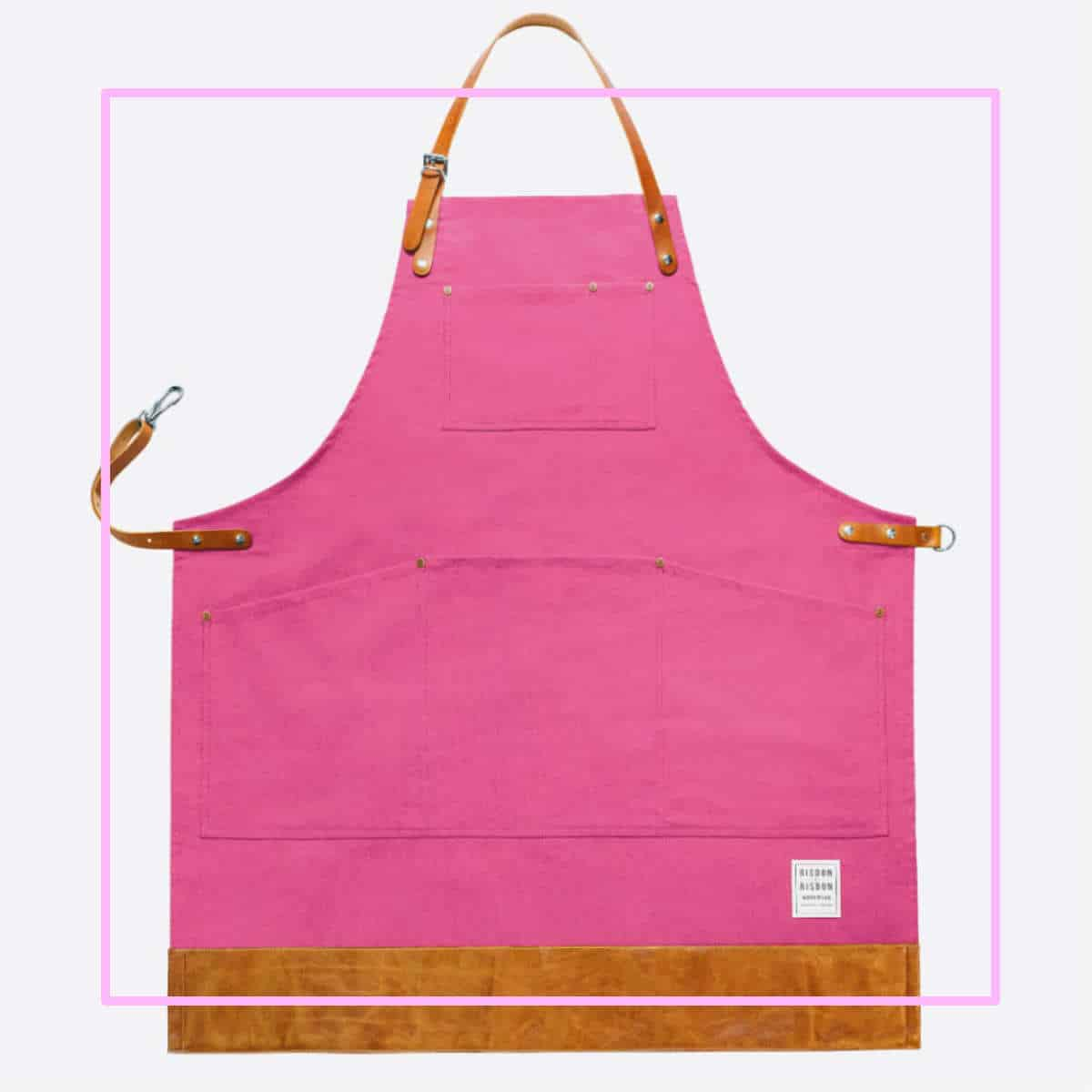 pink apron pink frame