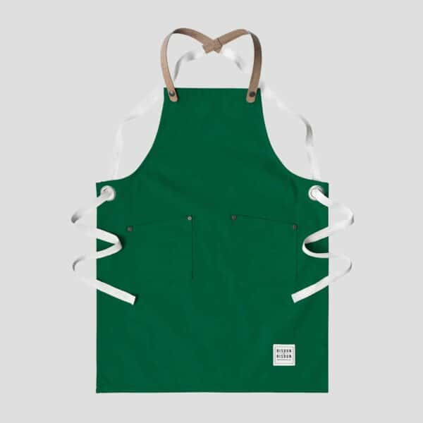 risdon and risdon green children's apron forest green kids apron cork straps for kids