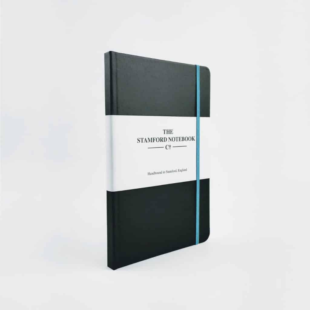 stamford notebooks vibrant buckram black notebook front 1