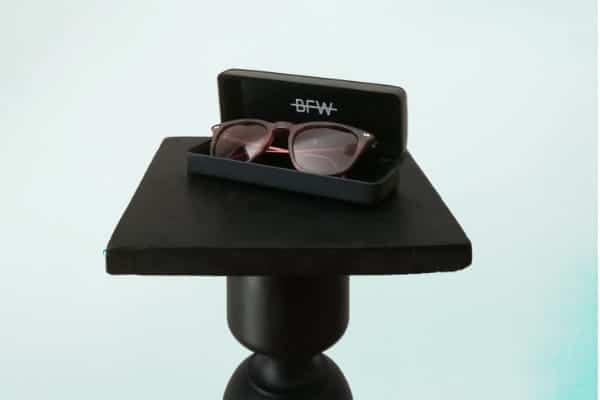 tortoise banton framework sunglasses in box on podium 640x400 1