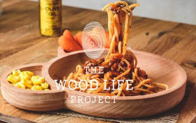 woodlife project i food in wooden children's bowl
